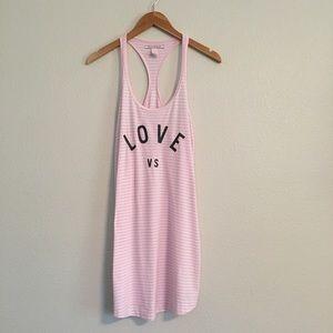 Victoria Secret Pink Racerback Tank Pajama Dress S